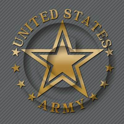 US Army Decal Military Veteran Car Truck Window Sticker Seal
