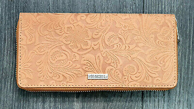 Starhide RFID Embossed Floral Women Purse Real Leather Wallet Best Gift 5590