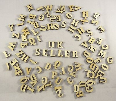 Wooden Craft Wedding Letters 100 Pack Mixed Card Making Alphabet Childs Craft