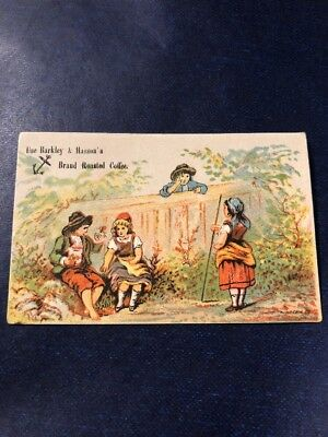Barkley And Hasson's Roasted Coffee Victorian Trade Card. c.1880s