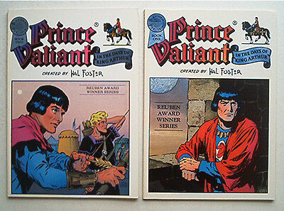Komplett  Prinz Eisenherz Comic Strip 2x Book  Prince Valiant Blackthorne 1986