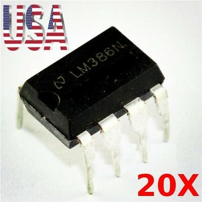 20X LM386 DIP-8 Audio Power AMPLIFIER IC USA Seller