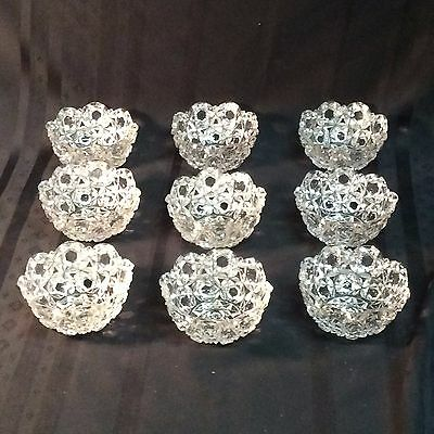 Vintage Crystal Clear Industries hand cut lead crystal fruit dishes     (T 2)