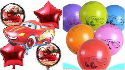 Disney Cars Latex / Foil Party Balloon Bundle / TABLECOVER / FACE MASKS.