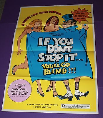 If You Don't Stop You'll Go Blind Movie Poster Orig One Sheet Adult Comedy