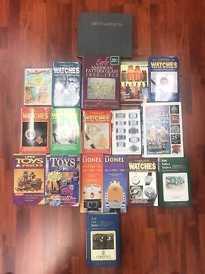 Antique Guide/Index Book Collection Of 18 TOYS WATCHES LIONEL GLASS BOTTLE ART