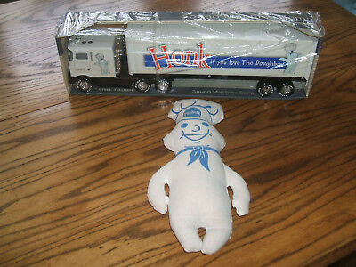 Lot of 2 Pillsbury Doughboy Nylint Tractor Trailer Toy Truck  & Cloth Doll