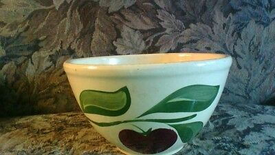 "Watt Mixing Bowl 9"" Apple 3 leaf Vintage Made in USA"