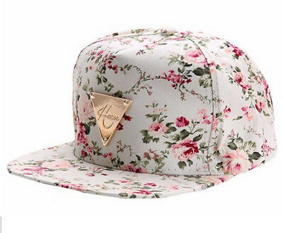 0996809137a HATER Summer Cap QUALITY Women Floral Baseball White Snapback Roses SUPREME
