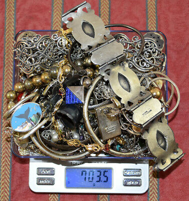 703.5 Grams Sterling Silver .925 - Scrap and Wearable Lot Y