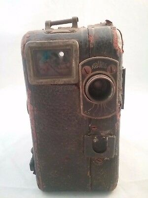 Antique Krauss Movie Camera With Pathex Film Canister Inside