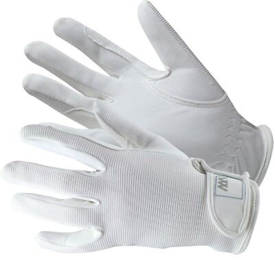 (Size 7.5, White) - Woof Wear Grand Prix Riding Glove. Shipping is Free