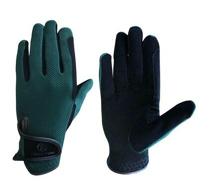 (Large, Black/Green) - Riders Trend Every Day Horse Dube-Mesh/Nubuck Suede