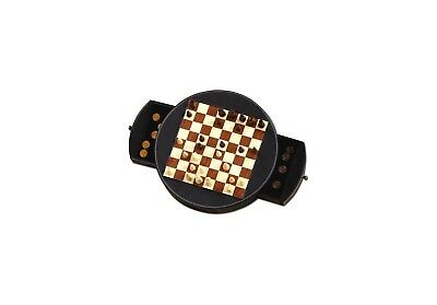 Magnetic Chess and Draughts Set - Leather Box. Dal Negro. Best Price