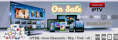World IPTV SKY+6000 Kanäle,+ VOD, Mag Device,ENIGMA2 DEVICES, Android, SMART TV