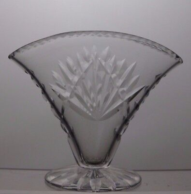 Lovely Lead Crystal Cut Glass Vase