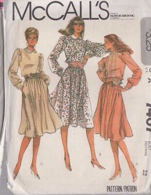 799c5893e31dc MCCALL'S 7407 SEWING Pattern to MAKE Easy Misses' Flared Knit Top ...