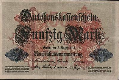 1914 German Empire 50 Mark Banknote