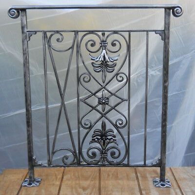 WROUGHT IRON Section, for balcony-window or room divider HAND MADE ( one unit)