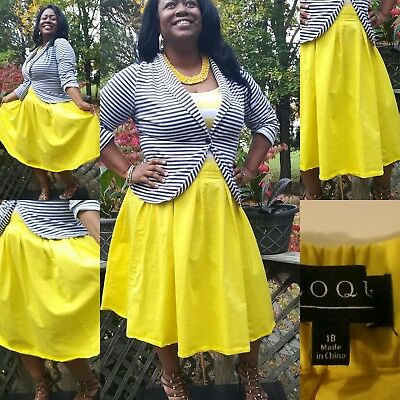 Stylish... Tea (full) length... yellow... Eloquii skirt 18
