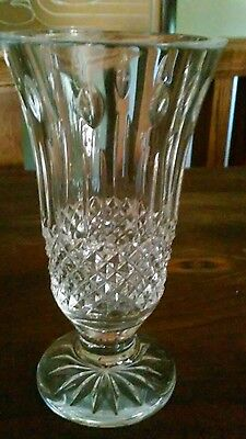 Vintage Waterford Irish Crystal. Beautiful Cut 7 Inch. Vase
