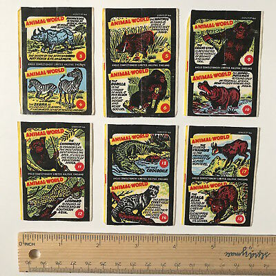Vintage Anglo Bell Boy Chewing Gum Animal World Wax Wrapper Inserts England No 1