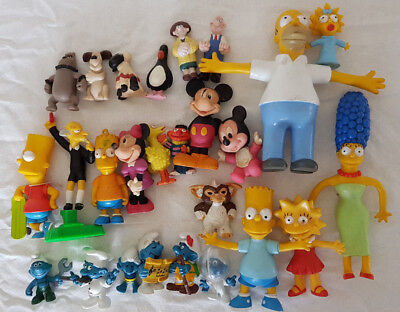 Action Figures Mixed Lot (The Simpsons + Disney + Smurfs + Wallace & Grommit)