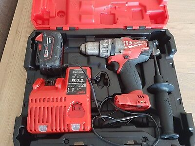 milwaukee 18v fuel drill charger 3ah battery case