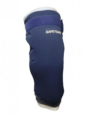 (Large, Navy Blue) - SafeTGard Long Sliding/Fielding Leg Pad(Available in 5