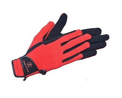 (X-Large, Black / Red) - Riders Trend Every Day Horse Dube-Mesh/Nubuck Suede