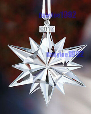 Annual Edition Hot Six Petals Snowflake Large Christmas Ornament Crystal 2017