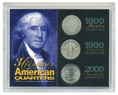 3 Centuries of American Quarters. American Coin Treasures. Free Delivery