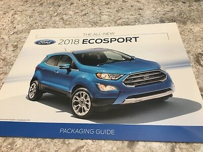 2018 FORD ECOSPORT PACKAGING GUIDE 12-page Original Sales Brochure