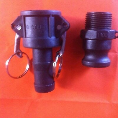 "Camlock 1"" (25) BSP Set 