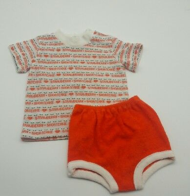 Vintage baby girl strawberry shortcake outfit