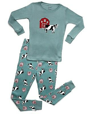 Leveret Boys Girls 2 Piece Pajama 100% Organic Cotton (Size 12 Months-14 Years)