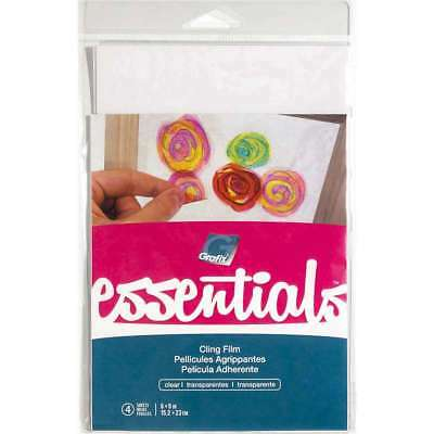 "Grafix Essentials Cling Film 6""x9"" 4/Pkg Clear  096701145010"