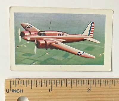 1930s CURTISS A-18 TWIN-ENGINE MONOPLANE ALLEN'S SWEETS AUSSIE TRADING CARD EXC!