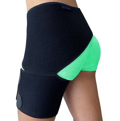 Groin Support  Hip Brace for Sciatica Pain Relief Thigh Hamstring Quadriceps ...