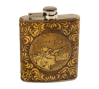 NEW 7oz Stainless steel Hip flask Gift Portable flagon Package Birch Bark Flasks
