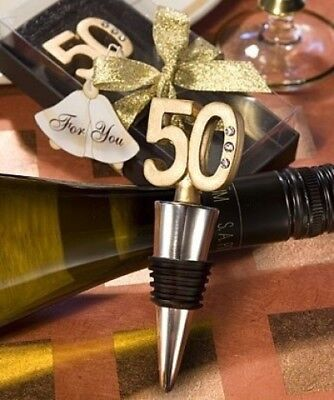 (16) - 50Th Anniversary Wine Bottle Stopper Favours. Fashioncraft. Huge Saving