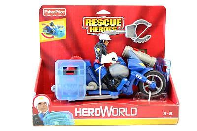 Fisher Price Rescue Heroes  Jake Justice Policeman & Motorbike - Action Figure