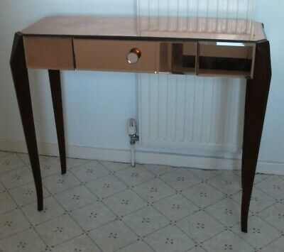 Vintage Art Deco Mirrored Console Table