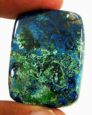 49.15 Ct Natural Azurite Loose Cabochon Gemstone Designer Stone - 18158