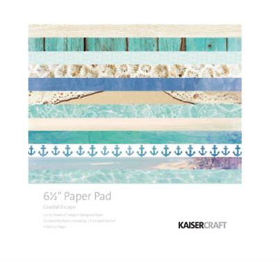 "Kaisercraft 'Coastal Escape' 6.5 x 6.5"" Paper Pad - PP991"