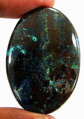 105.70 Ct Natural Azurite Loose Cabochon Gemstone Designer Stone - 18151