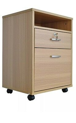 oak effect 2 drawer lockable file cabinet wood shelf office filing 2 drawer wooden lockable filing cabinet