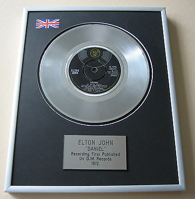 ELTON JOHN Daniel PLATINUM SINGLE DISC PRESENTATION