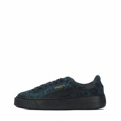01ae982743abf8 PUMA SUEDE PLATFORM Elemental Lace Up Grey Leather Womens Trainers ...