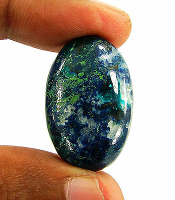 42.70 Ct Natural Blue Azurite Loose Gemstone Cabochon  Designer Stone - 14696